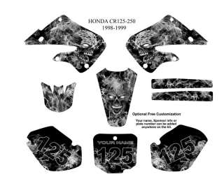 Honda CR 125 250 1998 99 MX Graphics Decals Kit #9500M