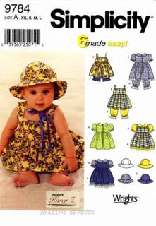 Pattern 9784 Baby clothes dress pantaloons 039363250715