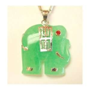 Fashion Jewelry ~ Jade Elephant Pendant