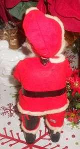 VTG OLD WORLD SANTA PLASTIC/PAPER MACHE DOLL FIGURE CHRISTMAS DECOR