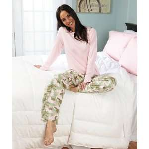 Womens Ladies Camo Camouflage Pjs Pajama Set Size 10/12