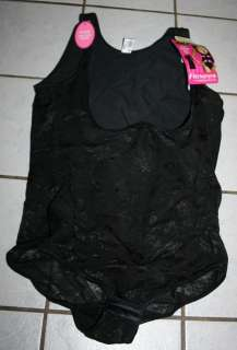 NEW Ladies $50 FLEXEES #1166 Black Firm Control Body Shaper Size
