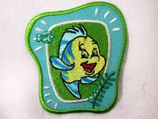 Disney Flounder Little Mermaid Iron On Applique Patch
