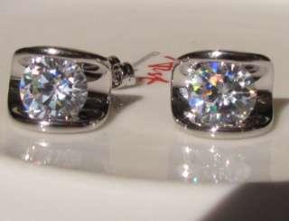 rose gold GP Heart pink Swarovski stud Earrings cut