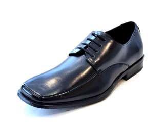 BLACK LEATHER DRESS SHOE LACE UP OXFORD MEN