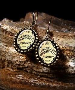 Ouija Board Halloween Vintage Horror Antique Bronze Dangle Earrings