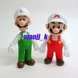 Nintendo Super Mario Figure 11cm Fire Mario & 12cm Fire Luigi x 1pcs