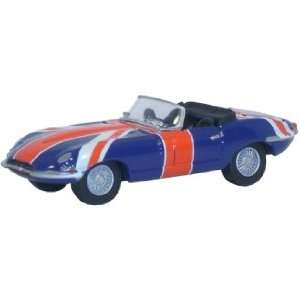 Oxford Diecast 76ETYP005 OO Jaguar E Type Union Jack