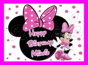 Minnie Mouse Frosting Sheet Edible Cake Topper 1/4 sheet |