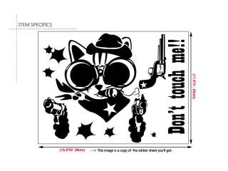 SHOOTING CAT Funny Toilet Decor Sticker Decal Removable