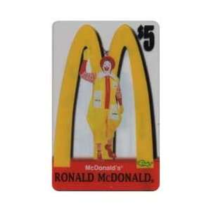 Collectible Phone Card $5. McDonalds 1996 Ronald McDonald Standing