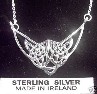 Sterling Silver Celtic Pendant Necklace Irish Jewelry .
