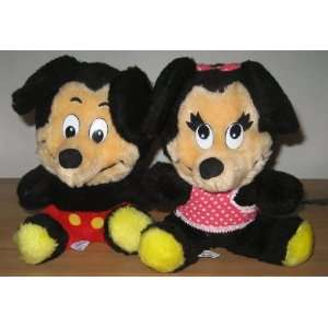 Vintage Mickey And Minnie Mouse Plush Set Everything Else