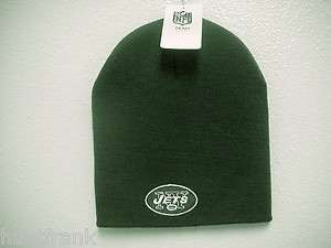 NFL* NEW YORK JETS KNIT CUFFLESS SKI BEANIE NWT OFFICIAL / LICENSED