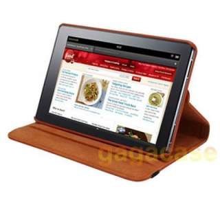 Kindle Fire 360 Rotating Leather Cover Stand Case + Screen