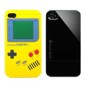 2pcs Set Nintendo Game Boy Silicone Case Yellow + KoreTech