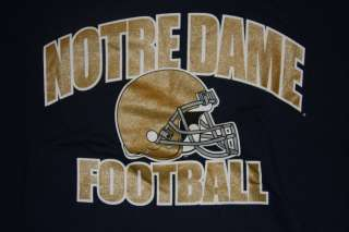 Notre Dame Fighting Irish Football T Shirt   Blue