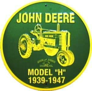 John Deere Tractor Model H 1939 1947 Circle Sign JD034