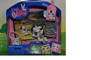 NEW RETIRED LITTLEST PET SHOP POSTCARD ZEBRA #903 HTF