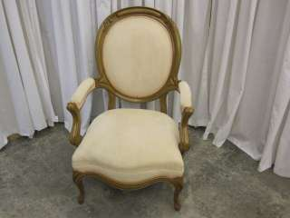 Victorian Style Gentlemans Arm Chair Light Color Wood