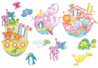 nEw 10 NOAHS ARK Animals Stick Ups WALL STICKERS DECALS