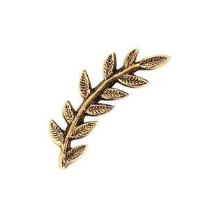 Nunn Design Antiqued Gold Plated Left Leaf Toggle Clasp