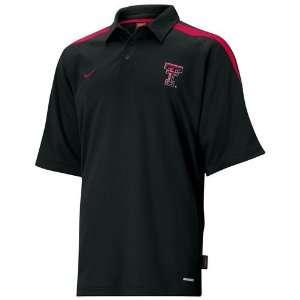 ... Clothes T shirts XS  Nike Texas Tech Red Raiders Black Cut Back Polo   Sports ... ce2c73bef