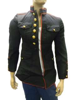 USMC GI US Marine Corps Official Dress Uniform Jacket Tunic Navy Blue