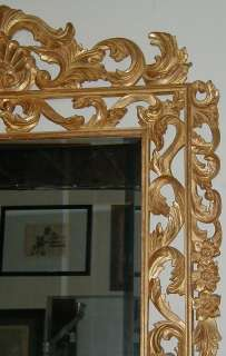 Huge Hand Carved Italian Classical Giltwood Mirror