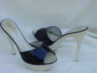 GIUSEPPE ZANOTTI SHOES sandals clogs slides black white