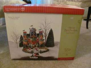 Dept 56 North Pole Series Glacier Park Pavilion Ice Skating Rink Nice