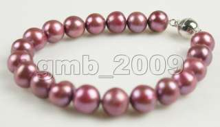 Fashion jewelry 9 10mm pearl Bracelet 7.5 #1877