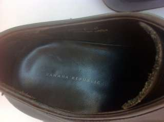 Banana Republic mens size US 9.5 color black leather dress shoes