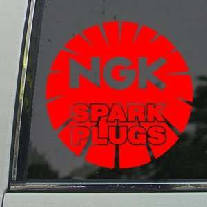 NGK Red Decal Suzuki Honda Yamaha GSXR 1000 750 600 Red