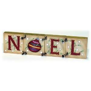 Wood NOEL Christmas Block Set Home & Kitchen