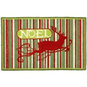 Noel Christmas Reindeer Seasonal Area Rug