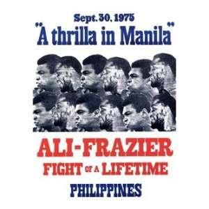 Sport Posters Muhammad Ali vs Joe Frazier   Boxing 1975