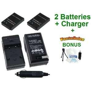2 Pack Nikon EN EL12 High Capacity Replacement Batteries