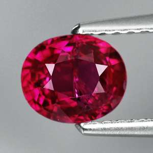 CERTIFIED UNHEATED 1.15ct OVAL NATURAL LIPSTICK RED RUBY, MOZAMBIQUE