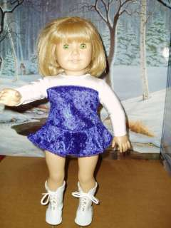 Velvet Ice Skating Doll Clothes fits American Girl