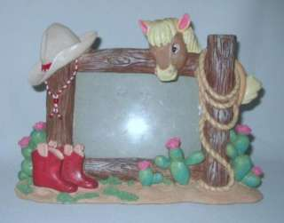Western Picture Frame ~ Horse~Cowboy Hat~Boots~Lariat