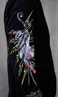 Ed Hardy Mens Tiger Velveteen Black Blazer New NWT