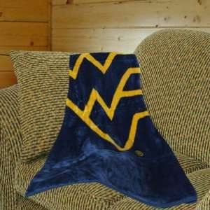 Navy Blue Old Gold Team Spirit Royal Plush Blanket Throw Home