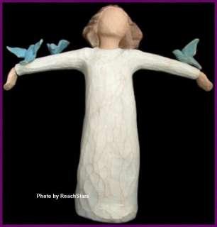WILLOW TREE ANGELS HAPPINESS FIGURINE BIRDS FREEDOM