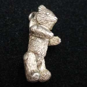 Teddy Bear Charm Vintage Sterling Silver Moving Arms and Legs