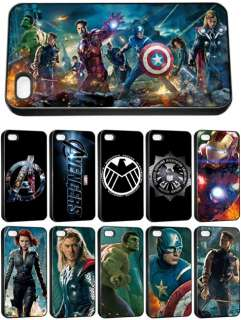 New The Avengers Movie 2012 Logo Apple iPhone 4/4s Seamless Hard Cover