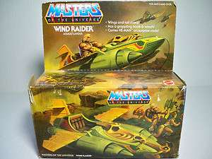 20311 HE MAN MOTU VINTAGE WIND RAIDER MIB 100% COMPLETE UN USED DECALS