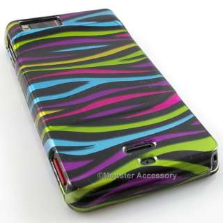 Funky Zebra Hard Case Cover Motorola Droid X Accessory