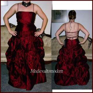 NEW~~$250 Burgundy Pick Up balloon Ball Gown Formal Prom Dress New 11
