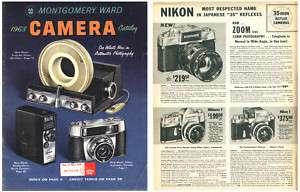 Montgomery Ward 1963 Camera Catalog Nikon, Rollei